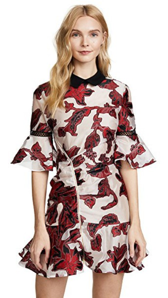 Self Portrait dress floral red