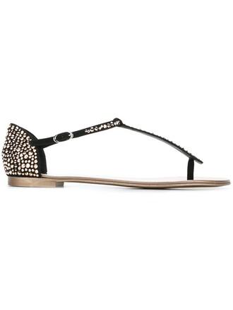 women plastic sandals leather suede black shoes