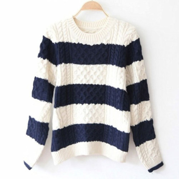 folk sweater mixing color sweet