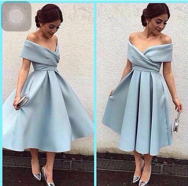 e1692188ed6b dress short dress light blue blue black dress tea length party dress short  homecoming dress elegant