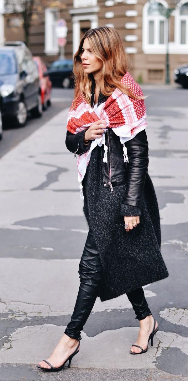 maja wyh blogger jacket scarf