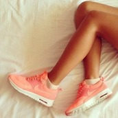 shoes,sneakers,nike,air max,nike air force,nike shoes,pink,nike sneakers,pink shoes,nike shoes orange sport,nike air,white,sportswear,colorful,coloured,nike running shoes,orange shoes,fitness,pastel,running,sporty