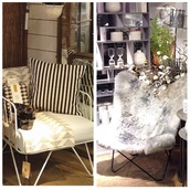 home accessory,white armchair metall,and blackbat armchair