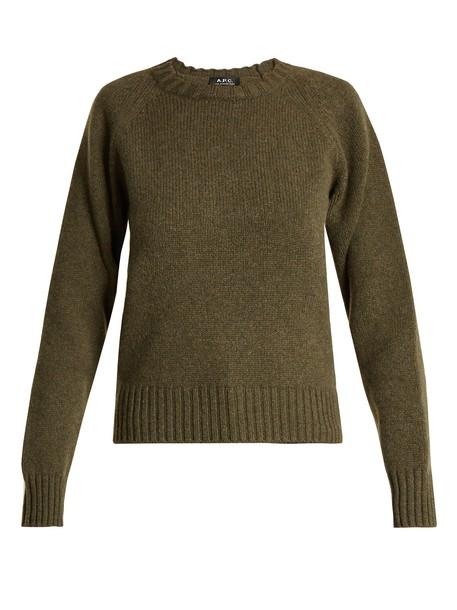 A.P.C. sweater wool sweater wool khaki