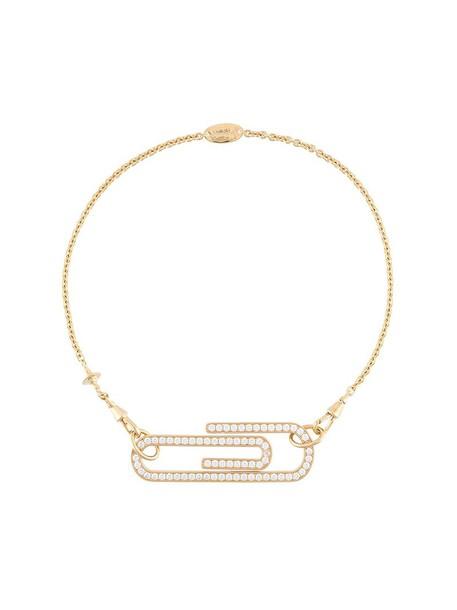 Vivienne Westwood women necklace gold grey metallic jewels