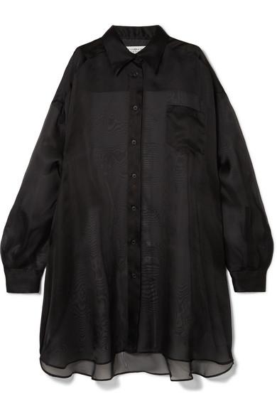 Maison Margiela - Oversized silk-organza shirt