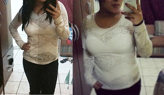 blouse lace long sleeves white long sleeve