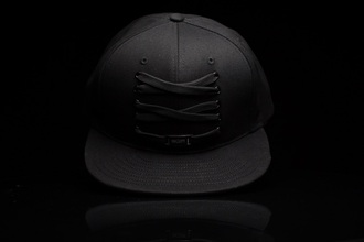 hat iids laces black hat black laced hat snapback hat snapback