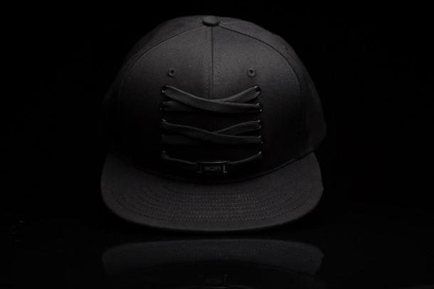 hat iids laces black hat black laced hat snapback snapback