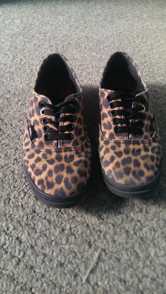 shoes vans skater skatershoes leapord shoes leapord print