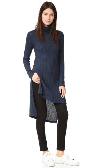tunic knit navy top
