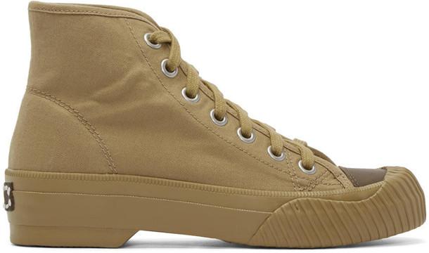 VISVIM high sneakers khaki shoes