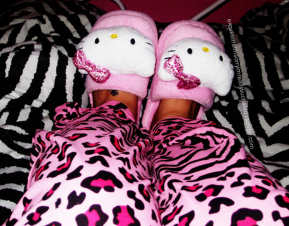 pants hello kitty pink pink pants pink leopard hello kitty shoes rhinestone leopard print leopard patterned leopard pants
