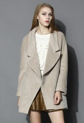 chicwish,wool-blend coat,oversized coat