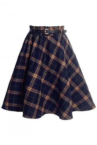 skirt school girl skirt tartan skirt woolen
