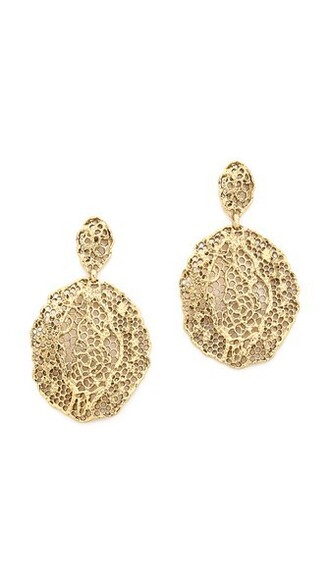 earrings lace gold jewels