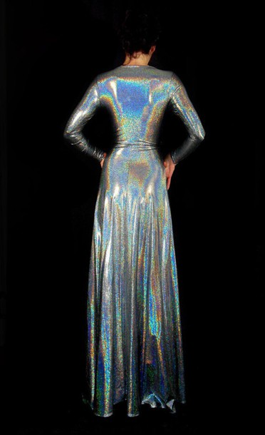 dress long holographic