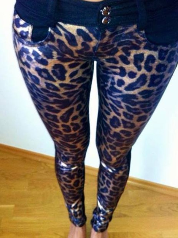 jeans undefined leopard print