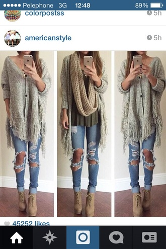 cardigan white beigh knitted cardigan