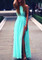 Side slit maxi dress mint