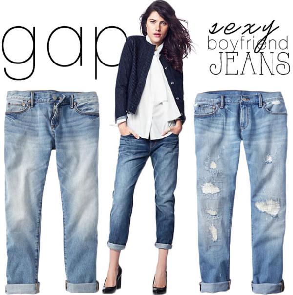 1969 destructed sexy boyfriend jeans | Gap