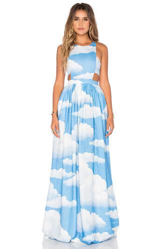 dress racerback blue