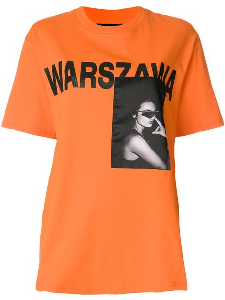 Misbhv t-shirt shirt t-shirt women cotton print yellow orange top