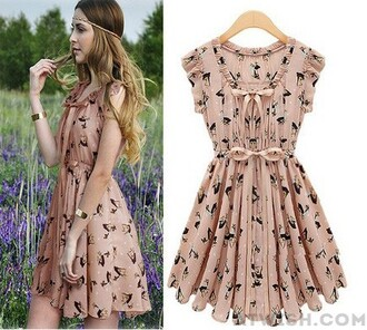 dress slim dress pattern chiffon dress pearl