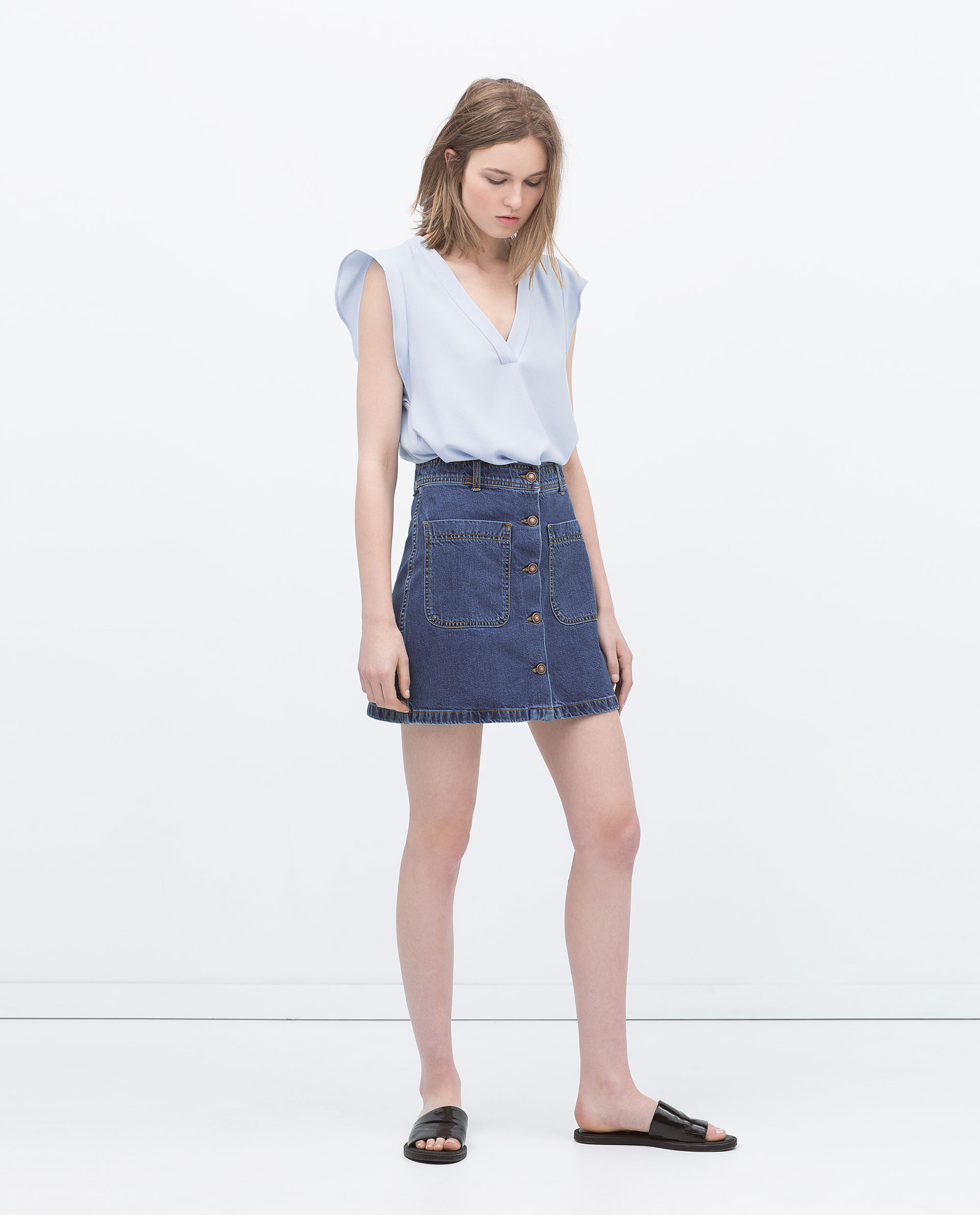 denim skirt with pockets skirts collection
