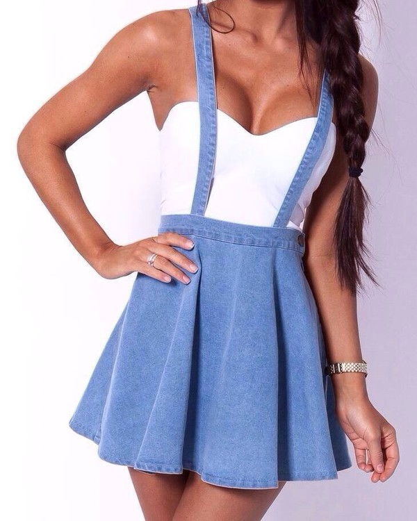 skirt denim dungarees skirt straps