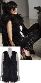 coat,women celebrity style dannii sleeveless waistcoat black