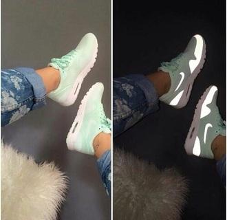 shoes nike mint light up