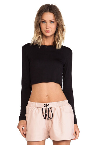 top long cropped black