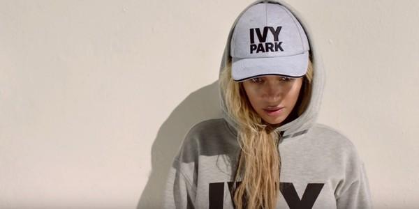 sweater hoodie beyonce ivy park cap grey