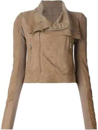 jacket biker jacket cropped nude