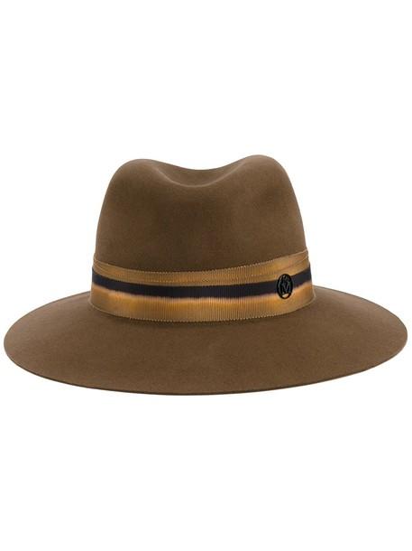 tan hat fedora brown