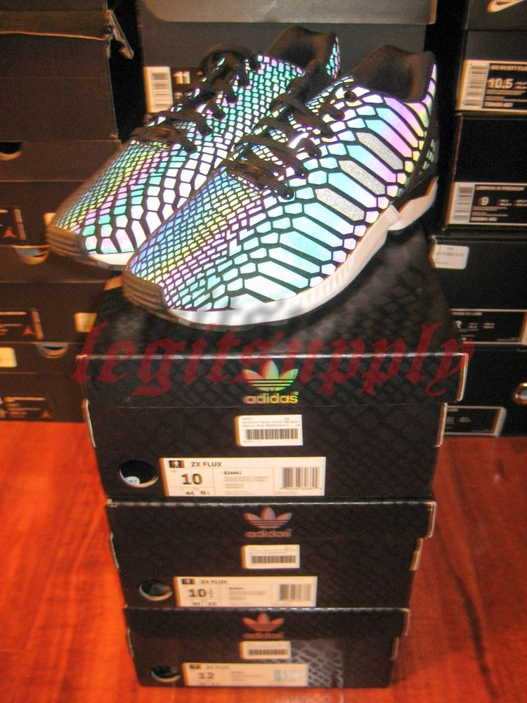 e6b6852a05f Adidas Originals Zx Flux Xeno 3M Reflective Black 9.5 B24441 ...
