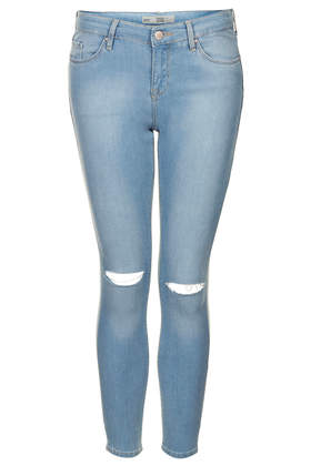 Petite MOTO Rip Bleach Leigh Jeans - Petite - Clothing - Topshop