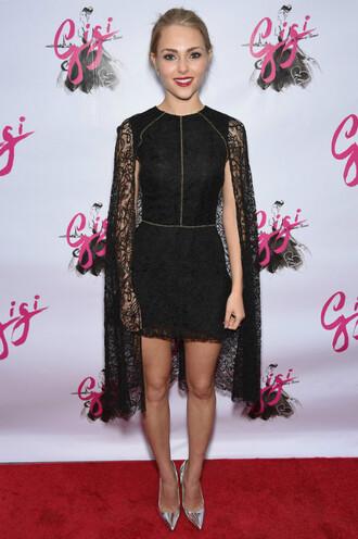 dress black lace lace dress annasophia robb mini dress