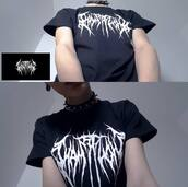 t-shirt,band,black metal,black,aesthetic,nu goth,aesthetic tumblr,blouse