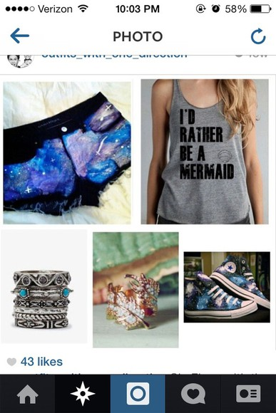 shorts galaxy shorts shoes shirt