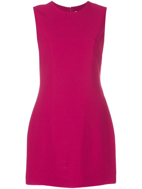 dress shift dress women classic spandex silk purple pink