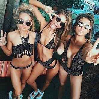 swimwear beach riot black bikini triangle string bikini triangle bikini triangle bikini top hipster boho boho swimwear embellished swimwear embellished bikini embellished black bikini