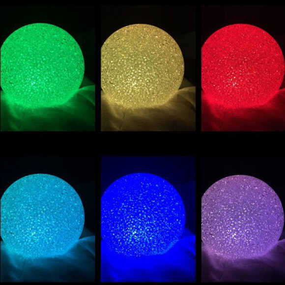 round blouse lamp multicolored light