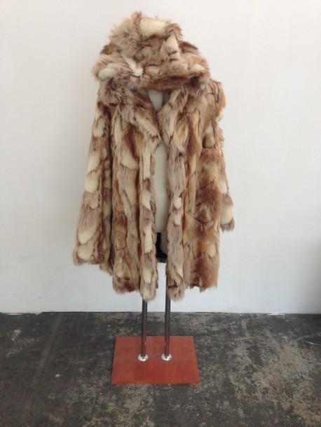 1db19c26b22c1 coat fur coat faux fur spirit animal bunny cute sweet kawaii fashion  kfashion jfashion korean fashion