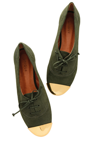shoes ester olive lace up flats flats olive green miss unique