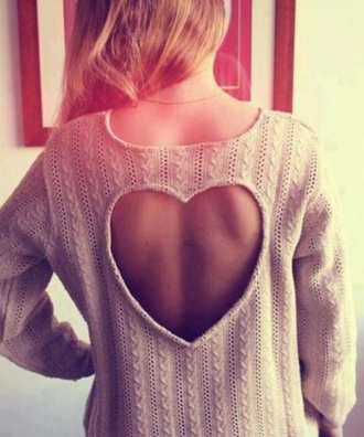 sweater heart wear winter sweater