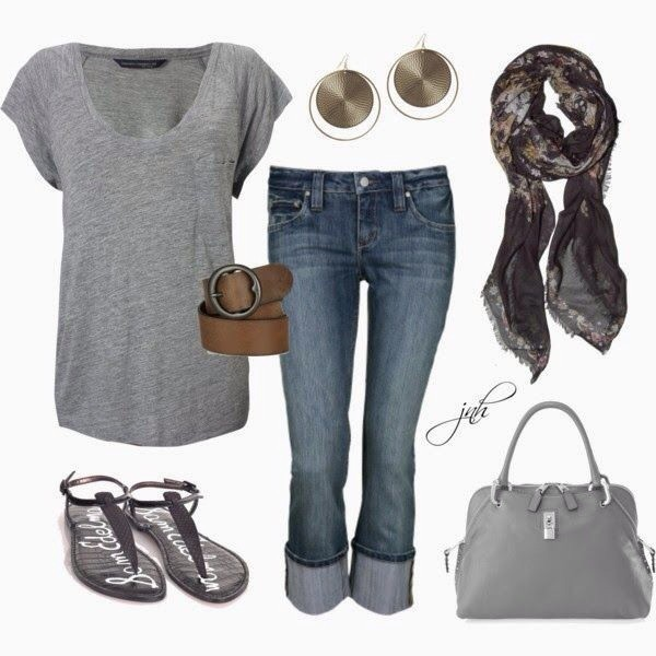 belt shoes jeans jewels bag scarf