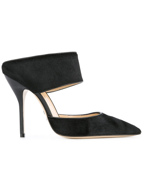 Paul Andrew hair women mules leather black shoes