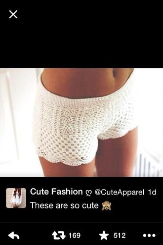 shorts cotton shorts white lace shorts shoes